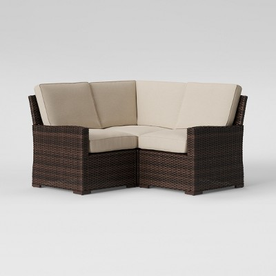 Halsted 3pc Corner Patio Sectional Tan - Threshold™