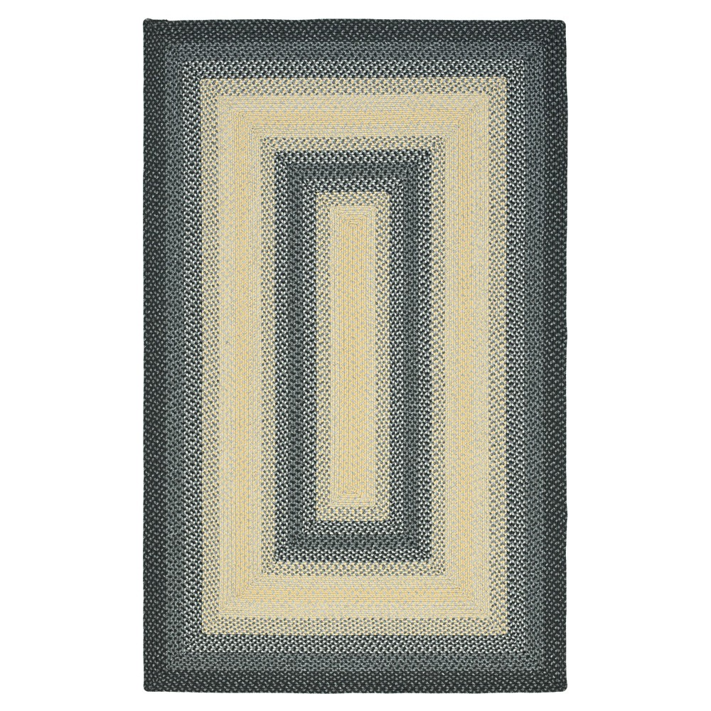 6'x9' Geometric Area Rug Black - Safavieh