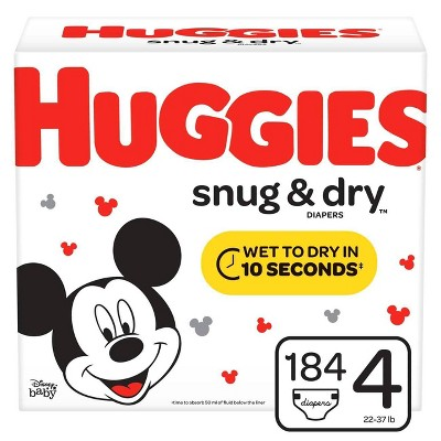 Huggies Snug & Dry Diapers - Size 4 (184ct)