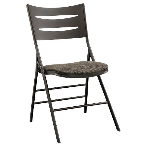 Sudden Comfort Destiny 3 Slat Black Folding Chair Set Of 4 Cinnabar Meco Target