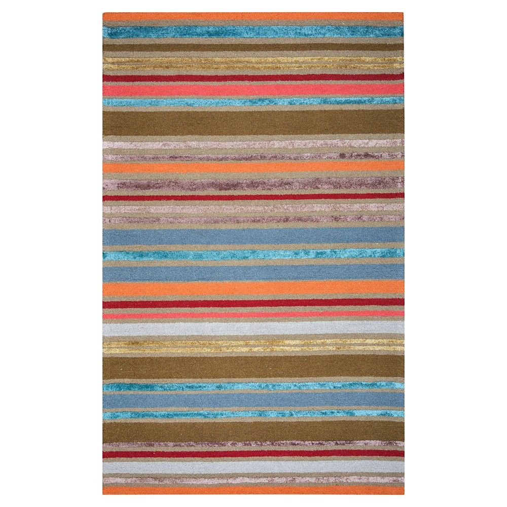 5'X8' Stripe Area Rug - Rizzy Home, Multicolored