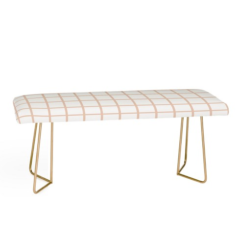 Little Arrow Design Blush Grid Bench Pink - Deny Designs - image 1 of 2