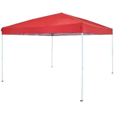 12'x12' Quick-Up Steel Frame Canopy with Carrying Bag Red - Sunnydaze