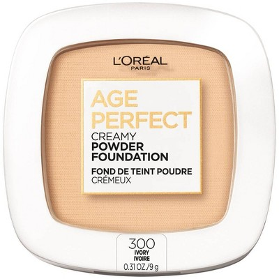 L'Oreal Paris Age Perfect Creamy Pressed Powder Foundation with Minerals - 0.31oz