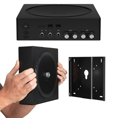 Sonos Amp Wireless Hi-Fi Player with Flexson Wall Mount (Black) - image 1 of 12