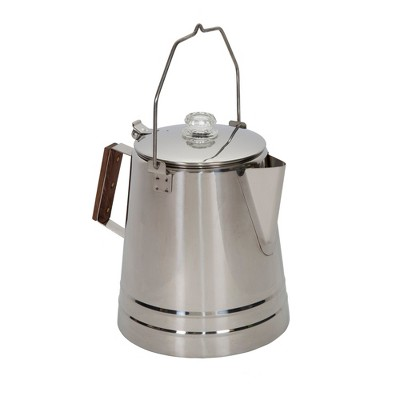 Stansport Stainless Steel Percolcator Coffee Pot 28 Cups