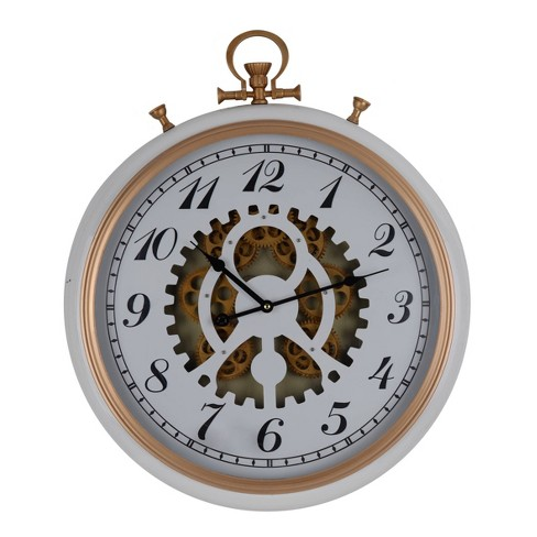 Urban Industrial Wall Clock White - A&B Home - image 1 of 1