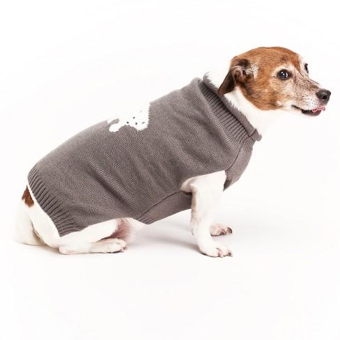 Royal Animals Polar Bear Dog Sweater - Gray - XL - image 1 of 4