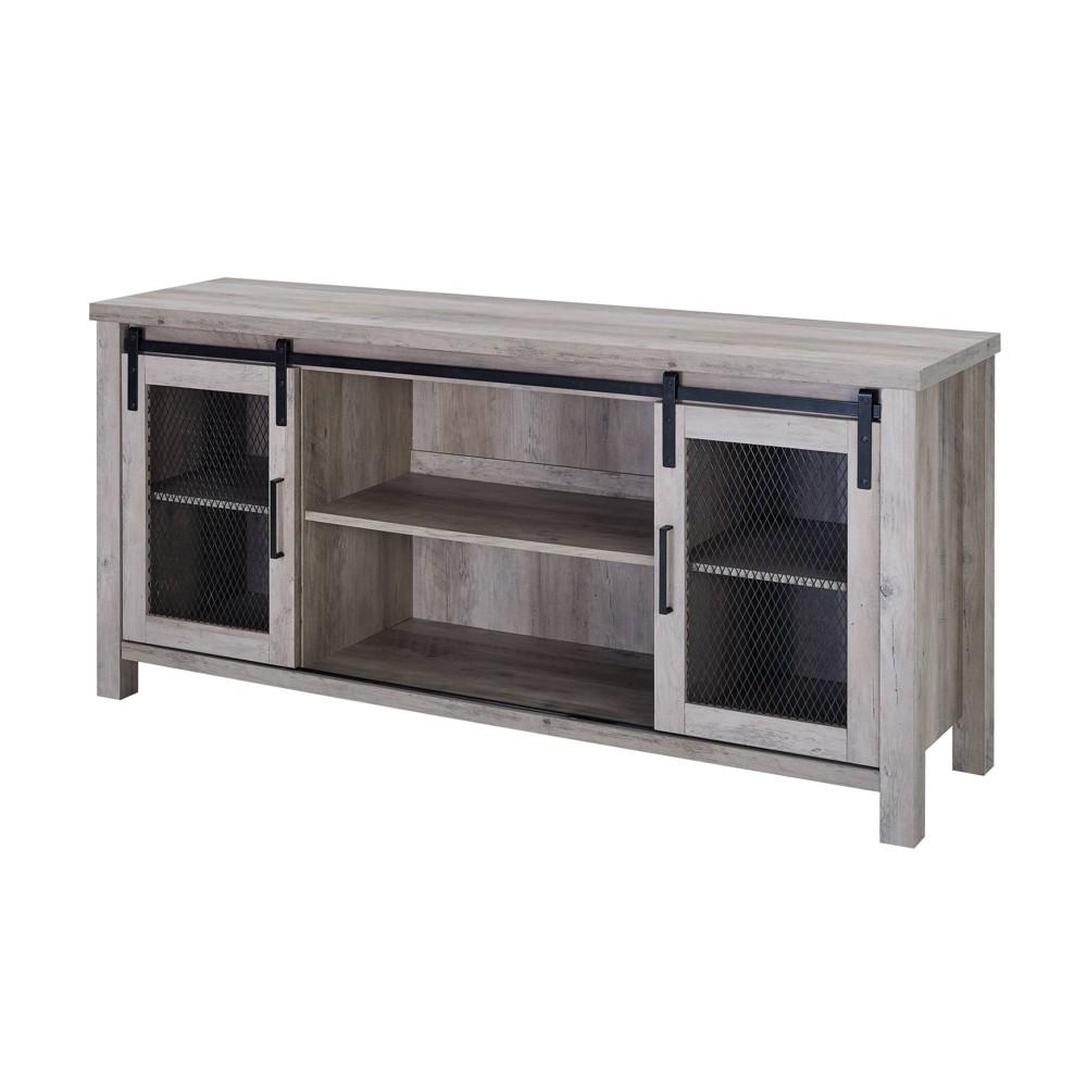 58 Industrial TV Stand Gray Wash - Saracina Home