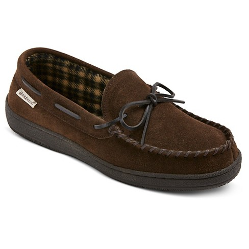 71a9a44fd4904 Men s Hideaways By L.B. Evans Moccasin Slippers   Target