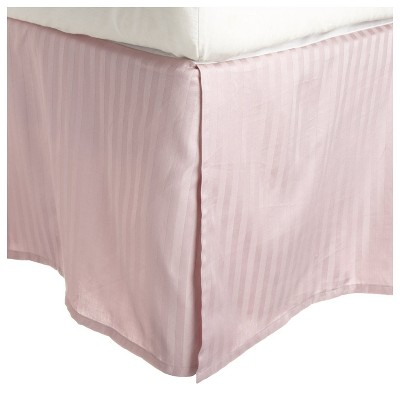 """300-Thread Count Cotton Striped Bed Skirt with 15"""" Drop - Blue Nile Mills"""