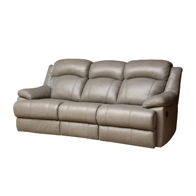 Friedman Top Grain Leather Reclining Sofa Gray - Abbyson Living