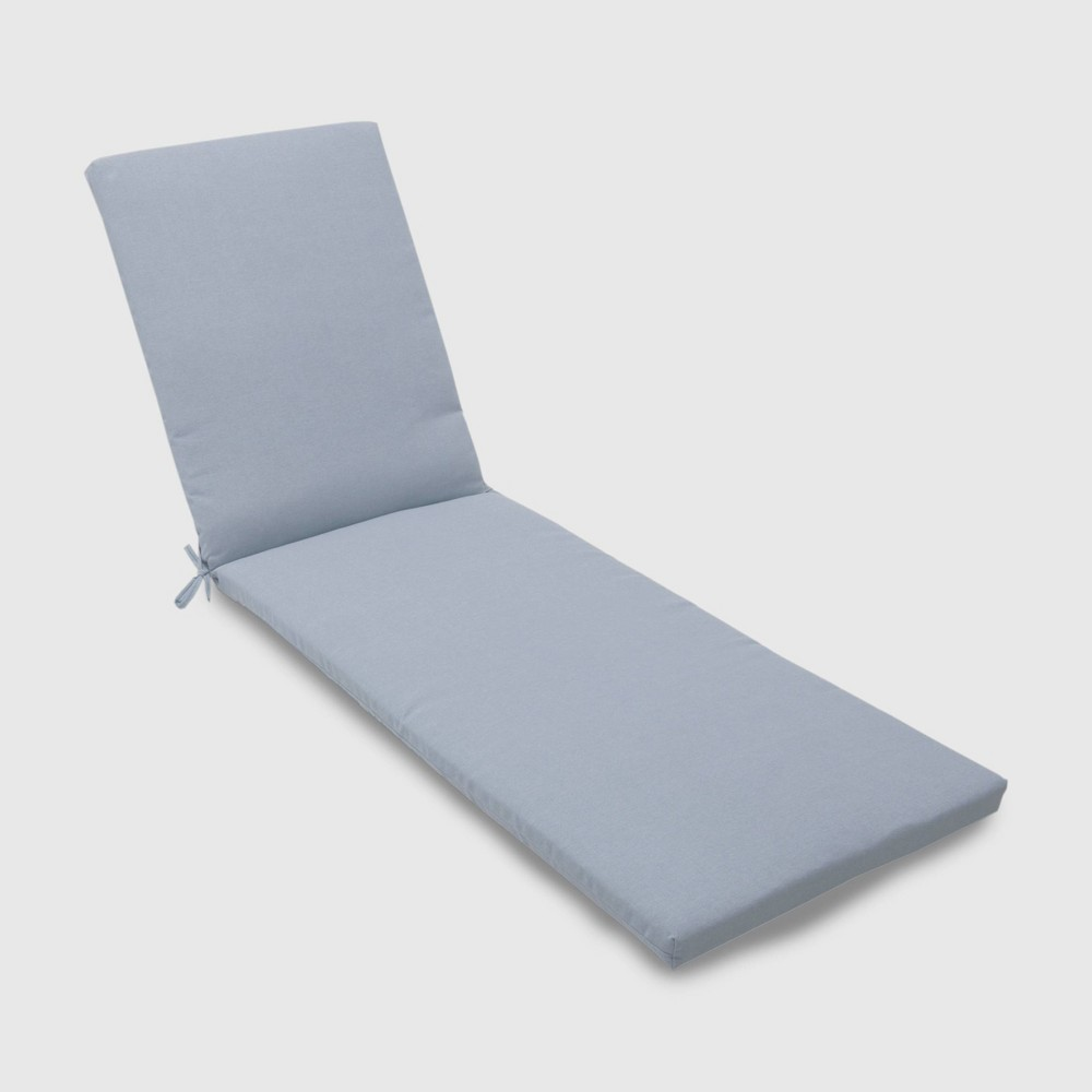 Outdoor Chaise Cushion Chambray - Threshold