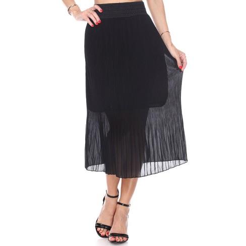 Women's Pleated Midi Skirt - White Mark - image 1 of 3