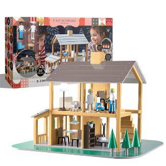 FAO Schwarz New Seasons Wooden Dollhouse