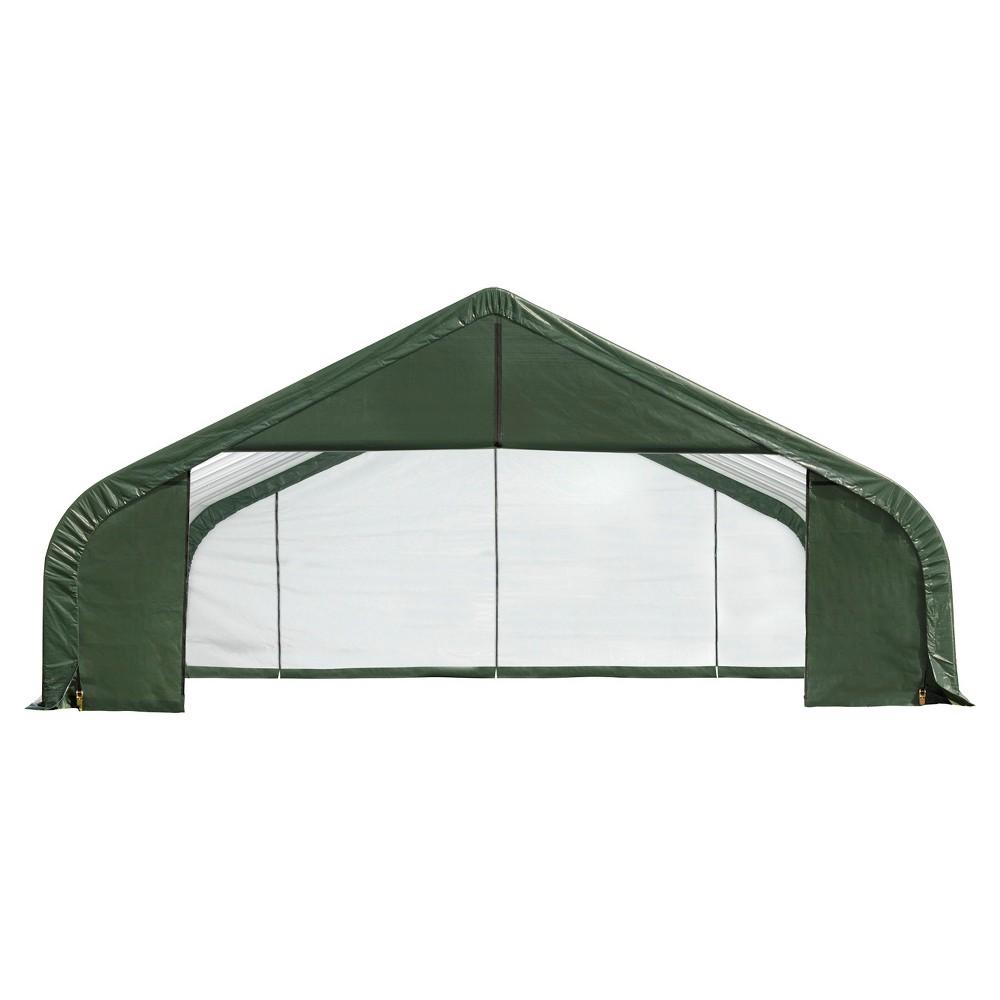 28' x 24' x 16' Peak Style Shelter - Green - Shelter Logic