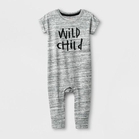 f794baa37 Baby Boys  Short Sleeve Romper - Cat   Jack™ Gray 24M   Target