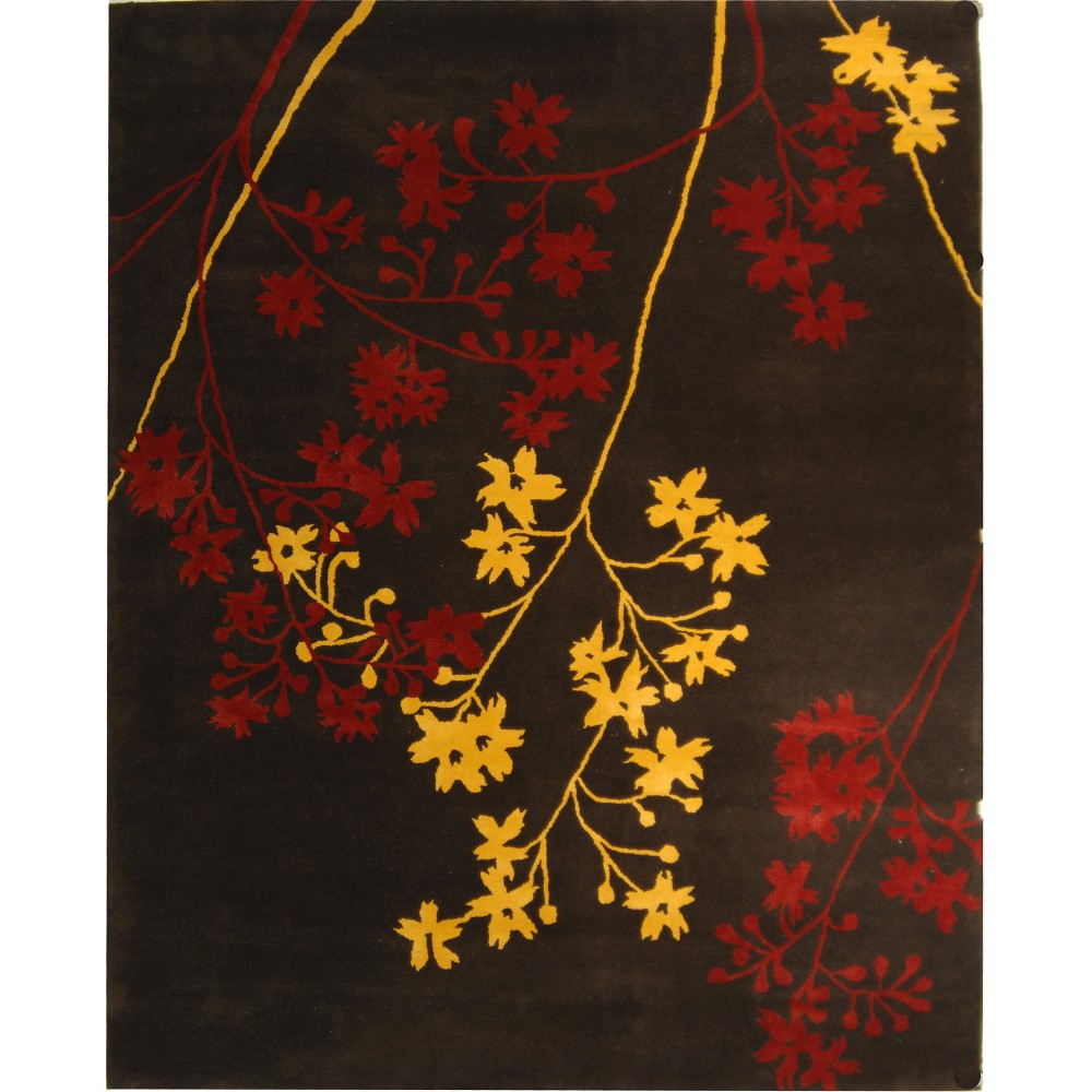 8'3X11' Floral Tufted Area Rug Brown/Red - Safavieh