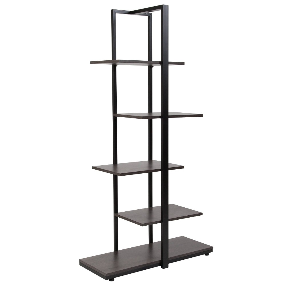 59.5 Homewood 5 Tier Shelf Brown - Riverstone Furniture
