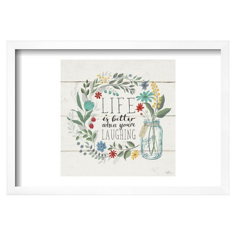 "Blooming Thoughts I by Janelle Penner Framed Poster 19""x13"" - Art.Com - image 1 of 4"