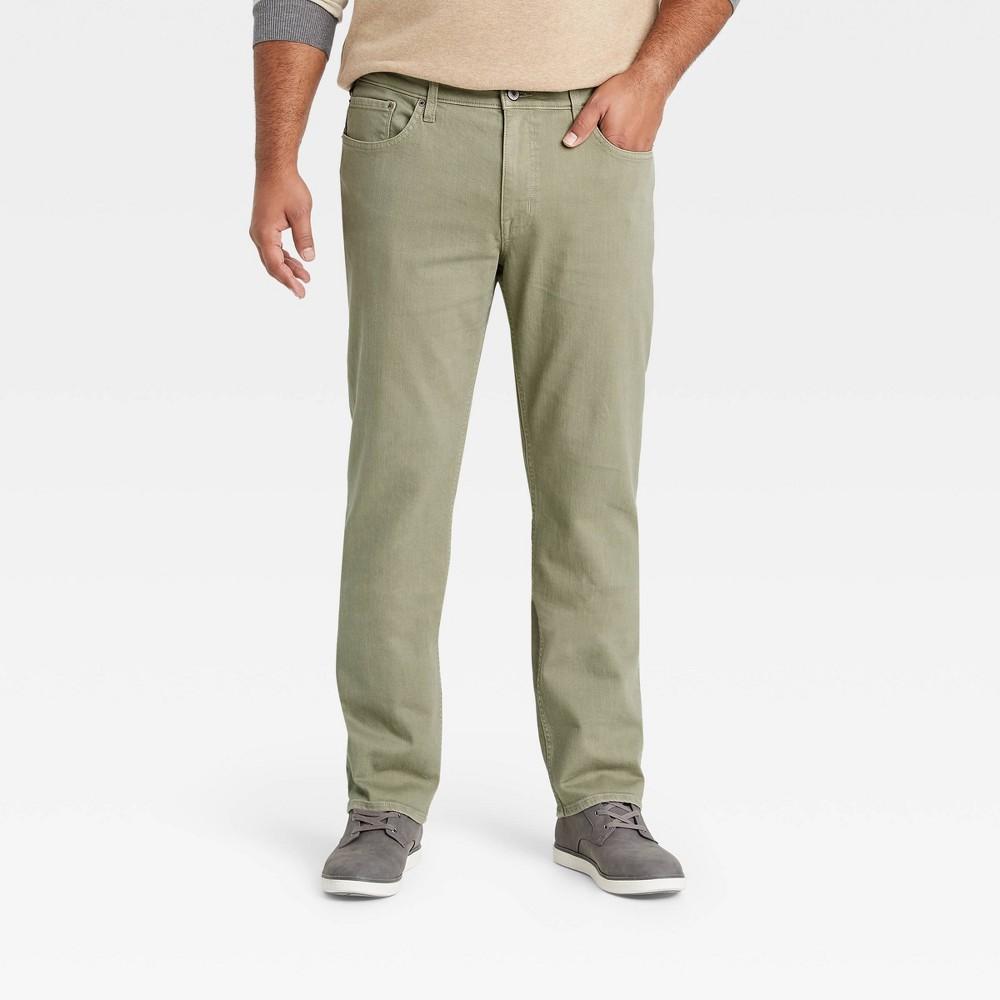 Men 39 S Tall Slim Fit Lightweight Jeans Goodfellow 38 Co 8482 Green 36x36