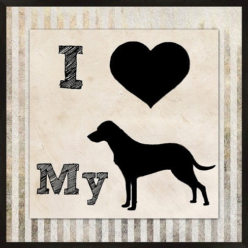 Love My Dog Wall Art Target