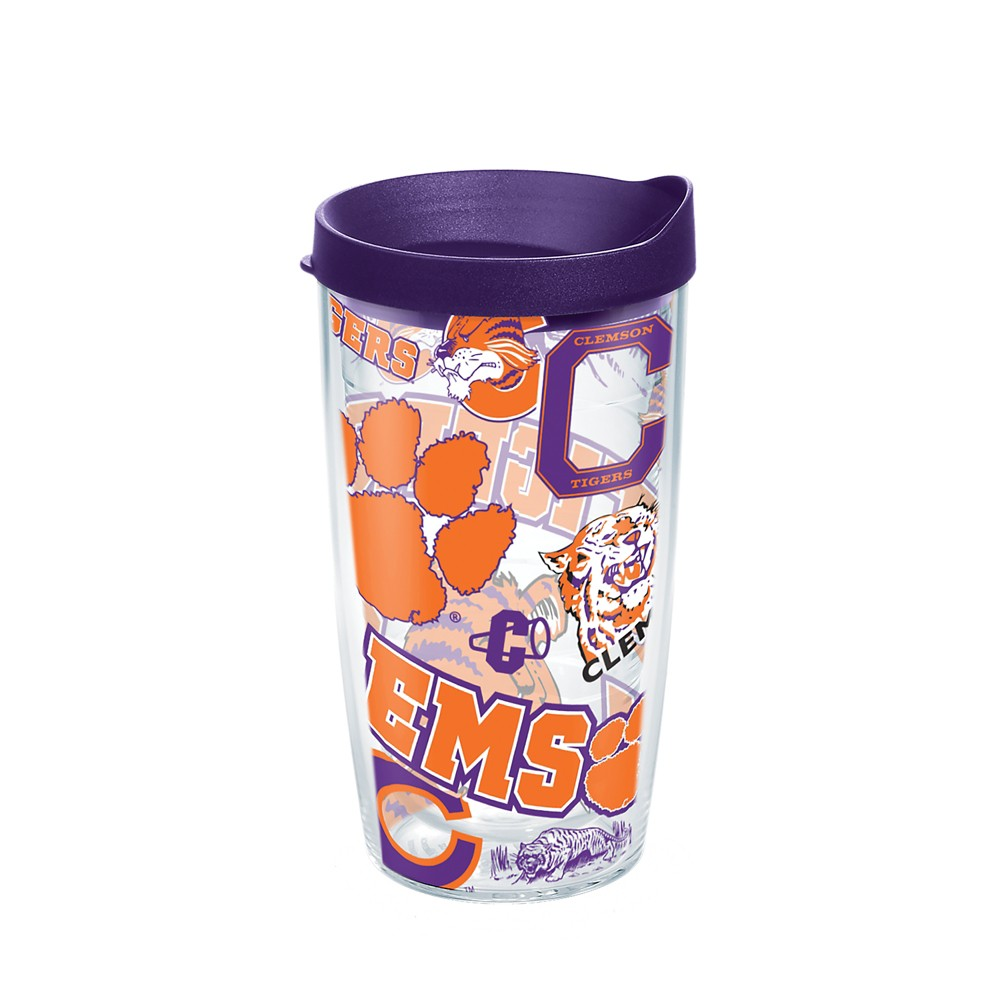 Tervis Clemson Tigers All Over 16oz Tumbler with lid