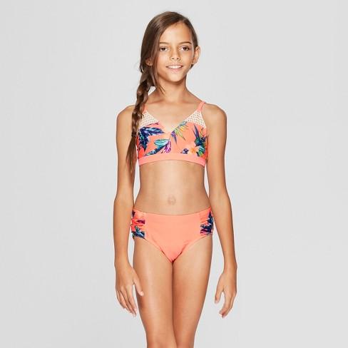 wholesale dealer e41a3 01c36 Girls' Maui On My Mind Bikini Set - art class™ Coral