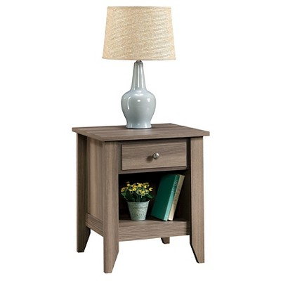 Shoal Creek Nightstand with Drawer and Storage Shelf - Diamond Ash - Sauder