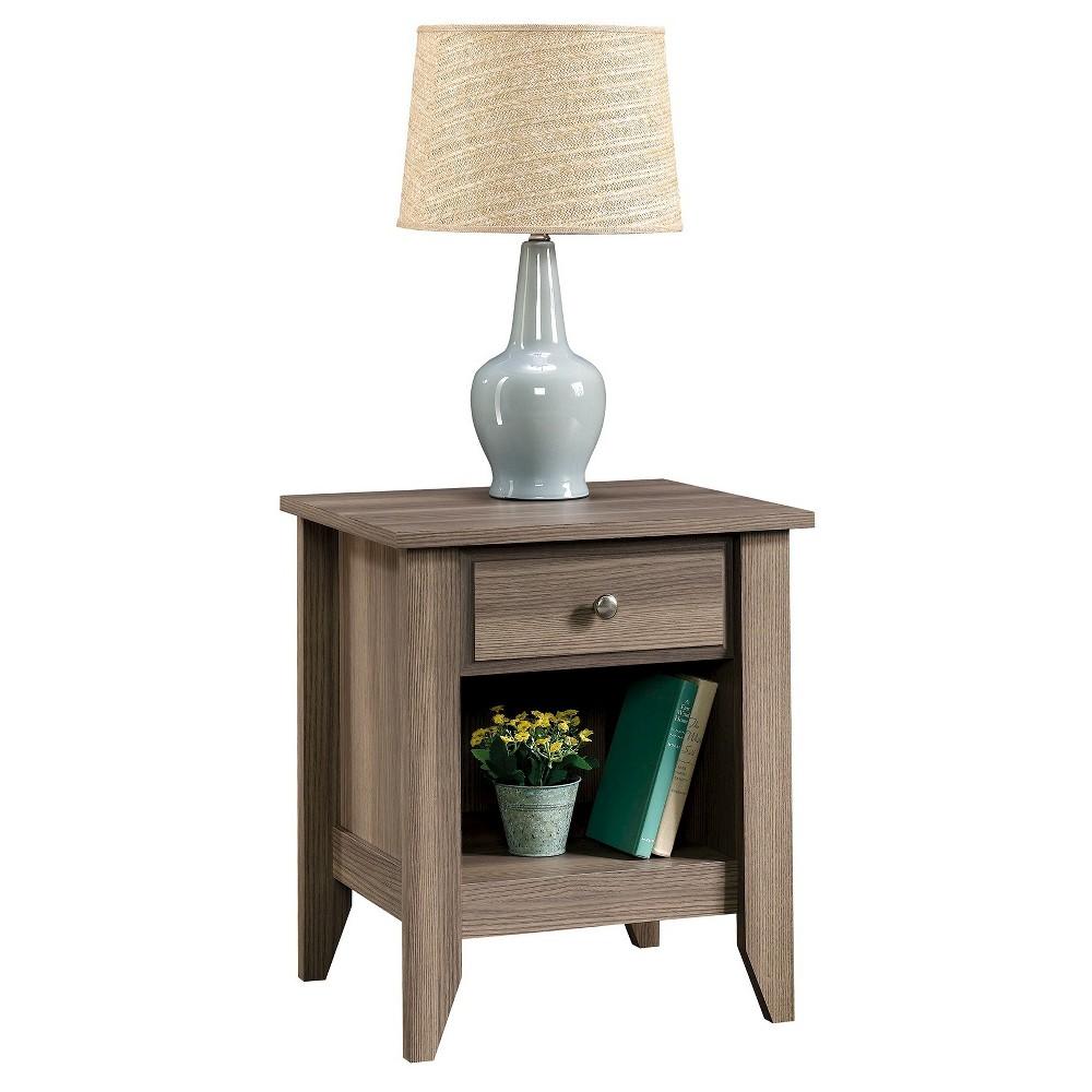 Shoal Creek Nightstand with Drawer and Storage Shelf - Diamond Ash - Sauder