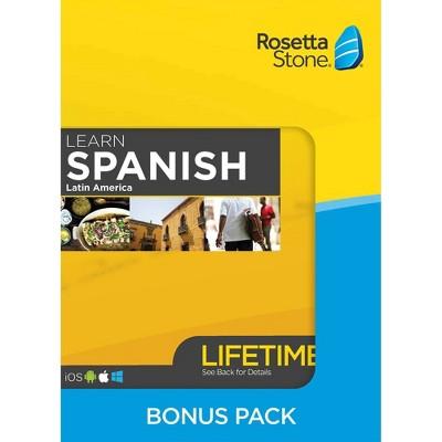 Rosetta Stone Lifetime Barron's Bundle Spanish LA