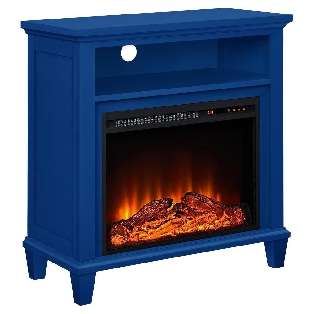 Ellington Accent Media Fireplace - Navy (Blue) - Altra