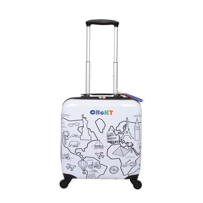 "Crckt 14"" Hardside Spinner Carry On Suitcase - Drawable"