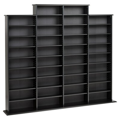 Grant Media Storage Rack - Black - Prepac