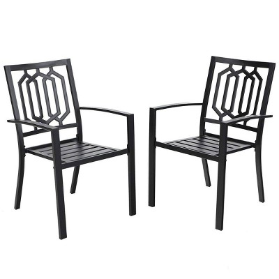 2pc Outdoor Stackable Bistro Chairs - Captiva Designs
