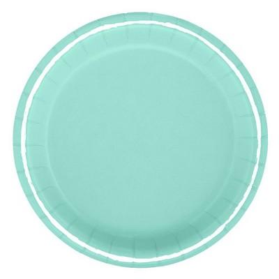 """6.75"""" 20ct Snack Plates Turquoise - Spritz™"""