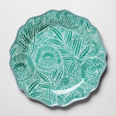 Melamine Dinner Plate 10.5  Green Floral - Opalhouse™