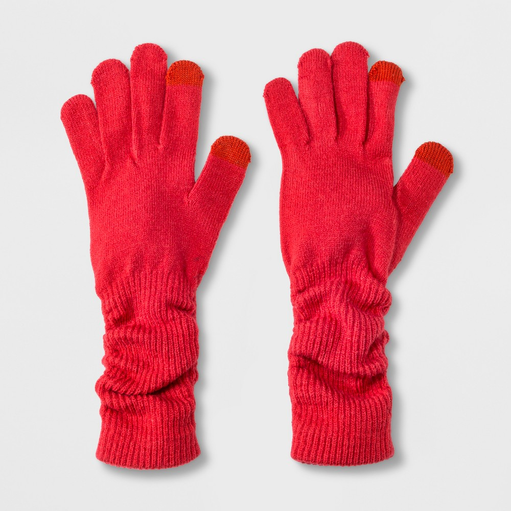 Women's Slouch Tech Touch Gloves - A New Day Red