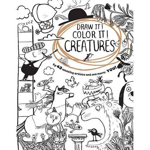 Draw It! Color It! Creatures - by  Houghton Mifflin Harcourt (Paperback) - image 1 of 1