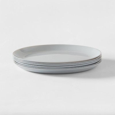 "10.7"" 6pk Glass Dinner Plates Gray - Made By Design™"