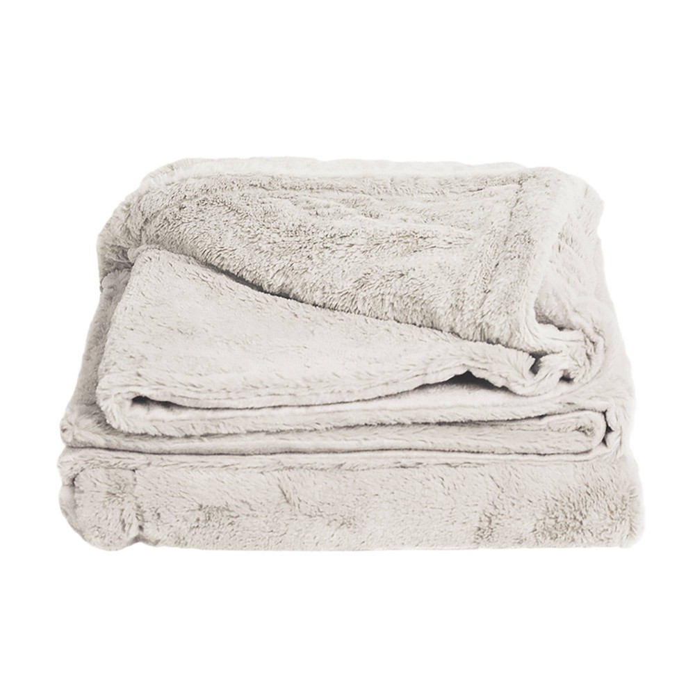 "Image of ""50"""" x 70"""" Viscose from Bamboo Plush Throw Blanket Coconut Milk - Cariloha, White Milk"""