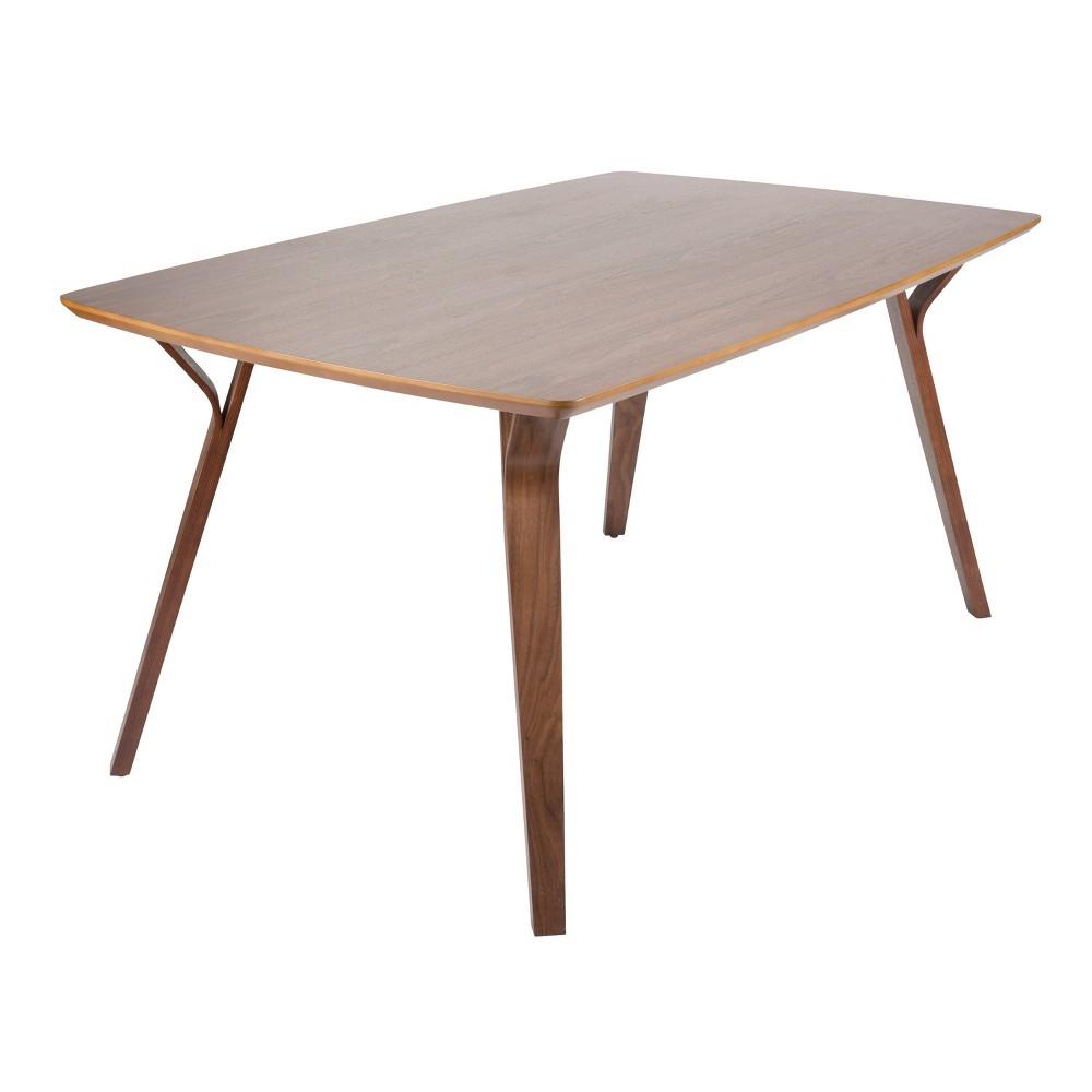 Folia Mid Century Modern Dining Table Walnut (Brown) - LumiSource