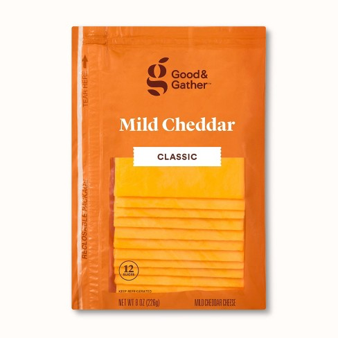 Mild Cheddar Deli Sliced Cheese - 8oz/12 slices - Good & Gather™ - image 1 of 2