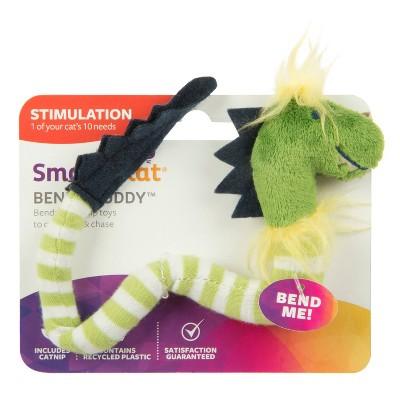 SmartyKat Bendy Buddy Cat Toy - Green
