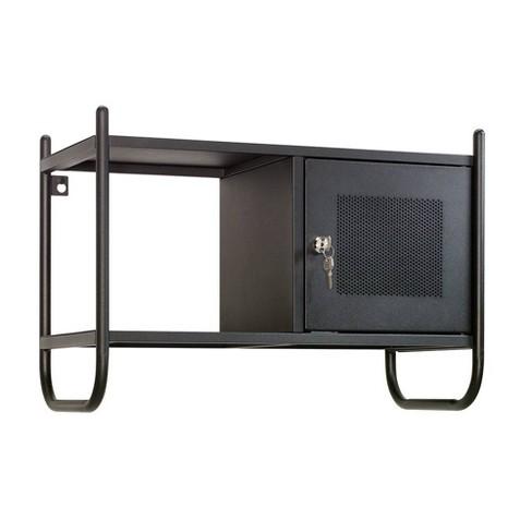 Boulevard Cafe Metal Decorative Wall Cabinet Black - Sauder - image 1 of 4