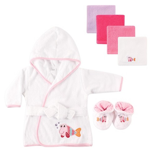 93efcdc766 Luvable Friends Baby Hooded Bath Robe Set - Fish   Target