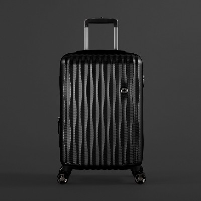 SwissGear Energie USB Port PolyCarb Hardside 20  Carry On Suitcase - Black