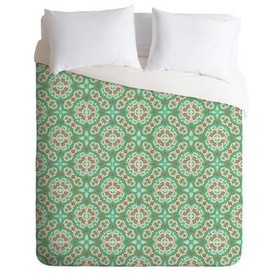 King Holli Zollinger Mosaic Comforter Set Green - Deny Designs