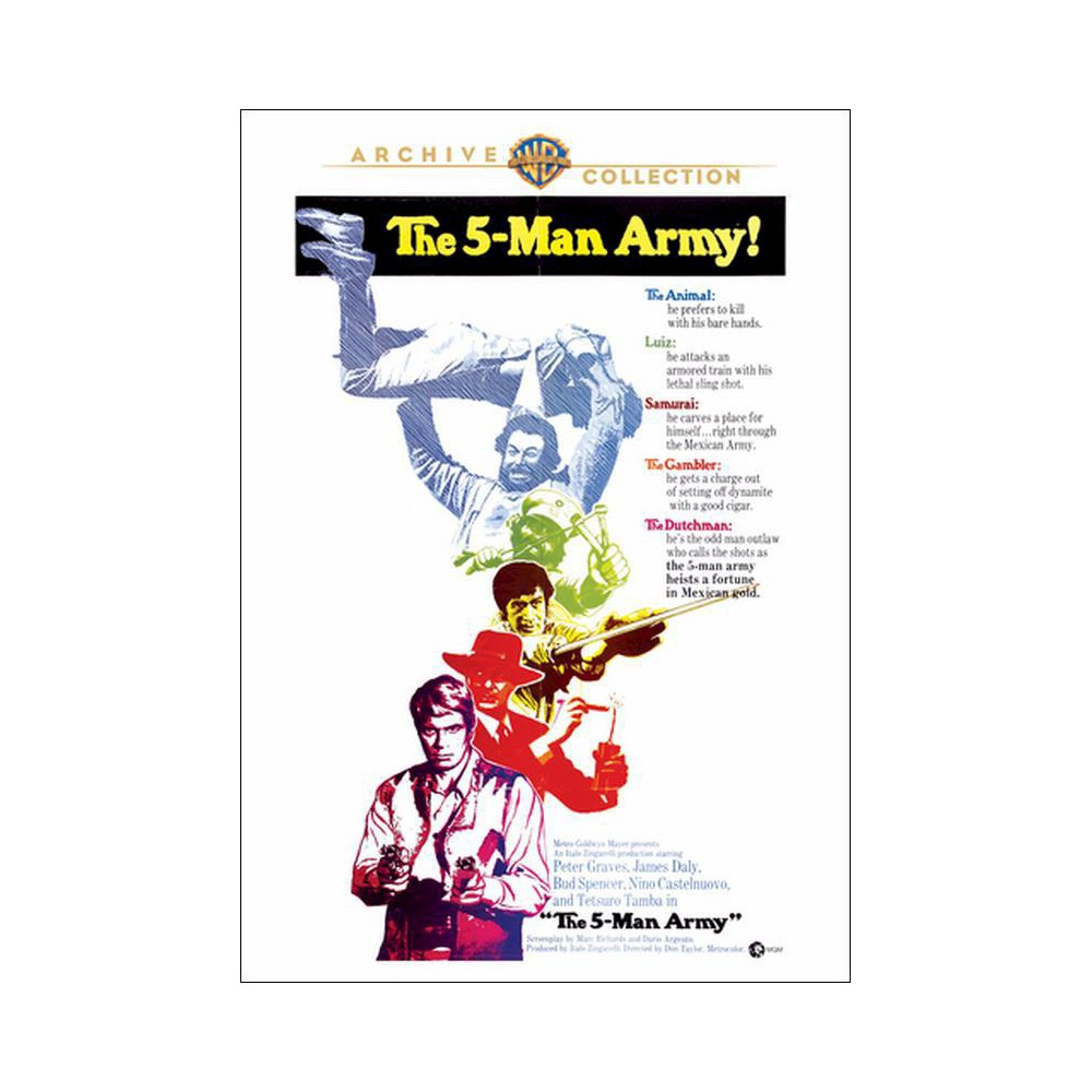 Five Man Army (Dvd), Movies