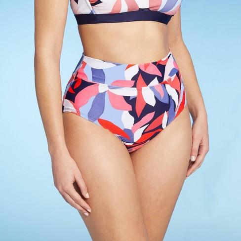 Women's Medium Coverage High Waist Bikini Bottom - Kona Sol™ Multi - image 1 of 4